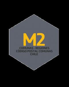 M2 Comunas - Regiones - Código Postal Comunas - Chile